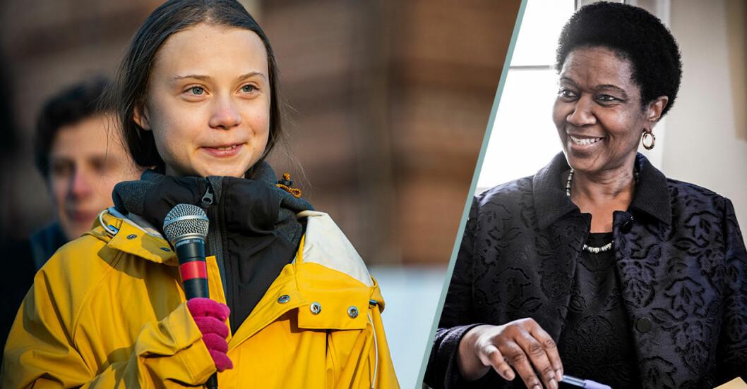 Greta Thunberg och Phumzile Mlambo-Ngcuka