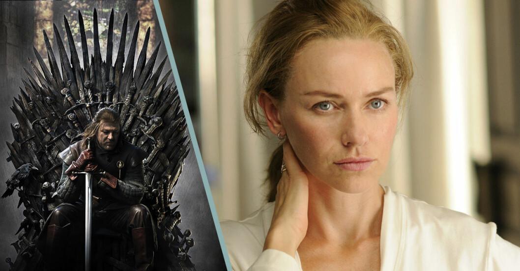 Naomi Watts som ska spela en av huvudrollerna i Game of Thrones.
