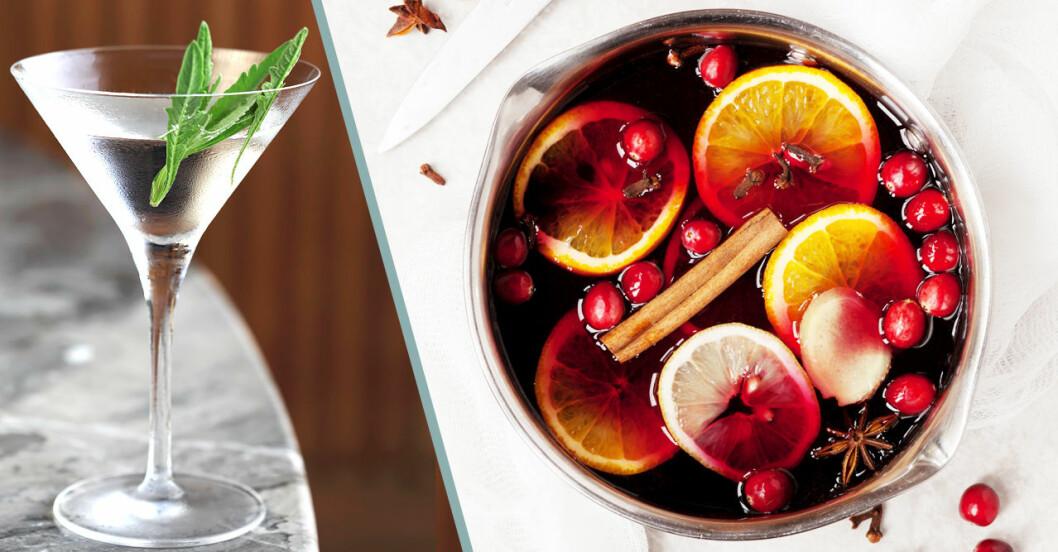 Glöggtini en drink med martini och glögg