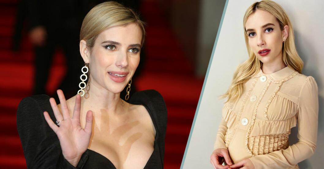 Gravida Emma Roberts om varför hon helst vill ha en son.