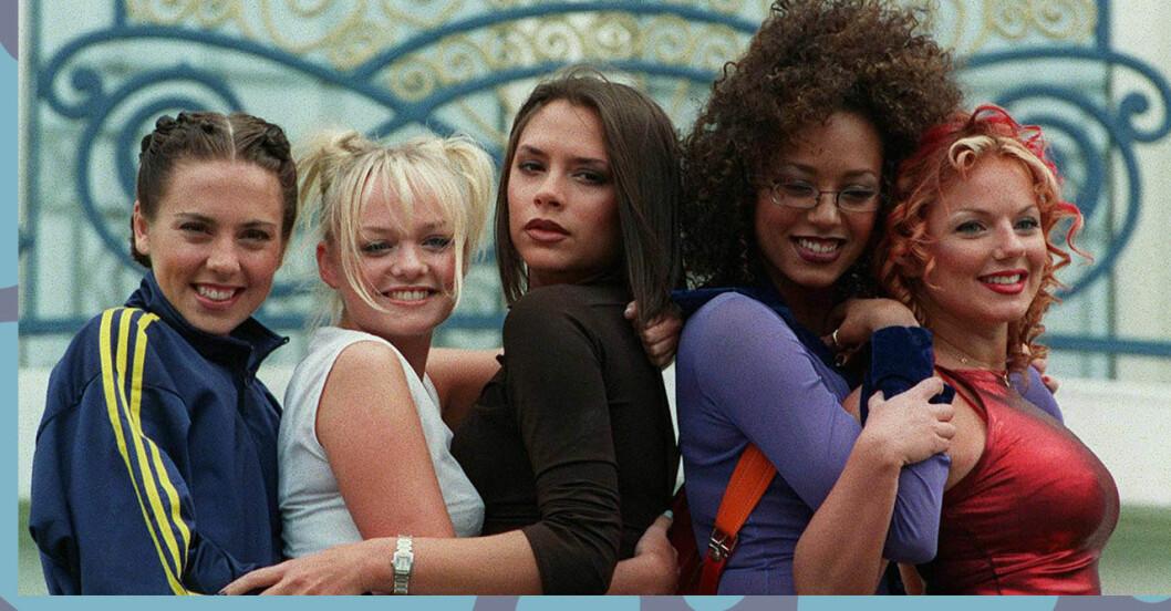 Spice girls gör ny musikvideo.