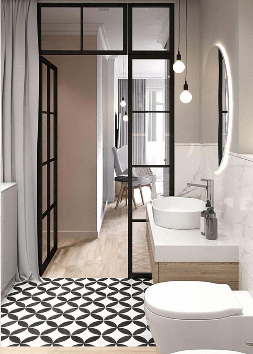 Mönstrade golv är en av inredningstrenderna 2019 – enligt Pinterest