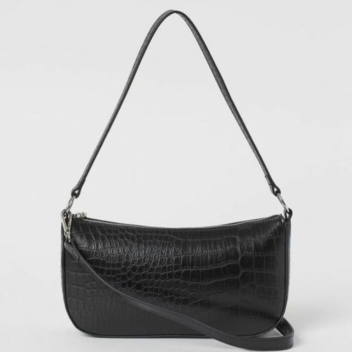 Svart baguetteväska i läderimitation från H&M