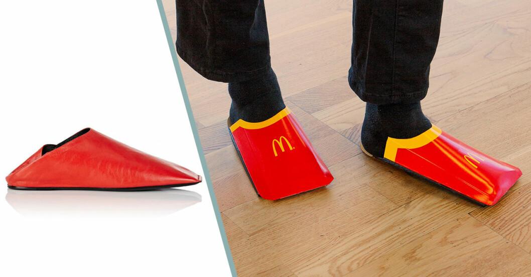 McDonalds driver med Balenciaga