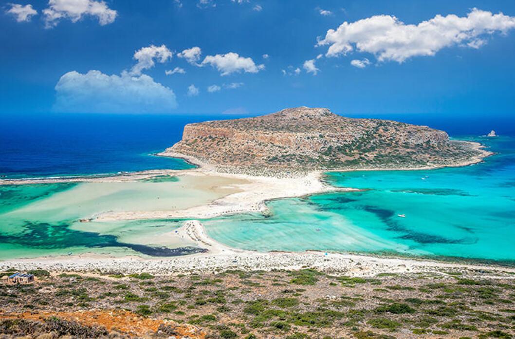 Balos Lagoon på Kreta i Grekland är en Instagramvänlig strand