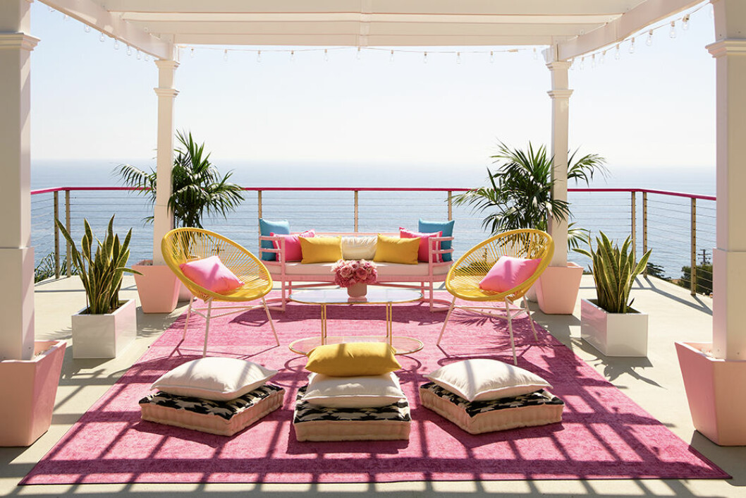 Meditationsterrass hos Barbie i Malibu