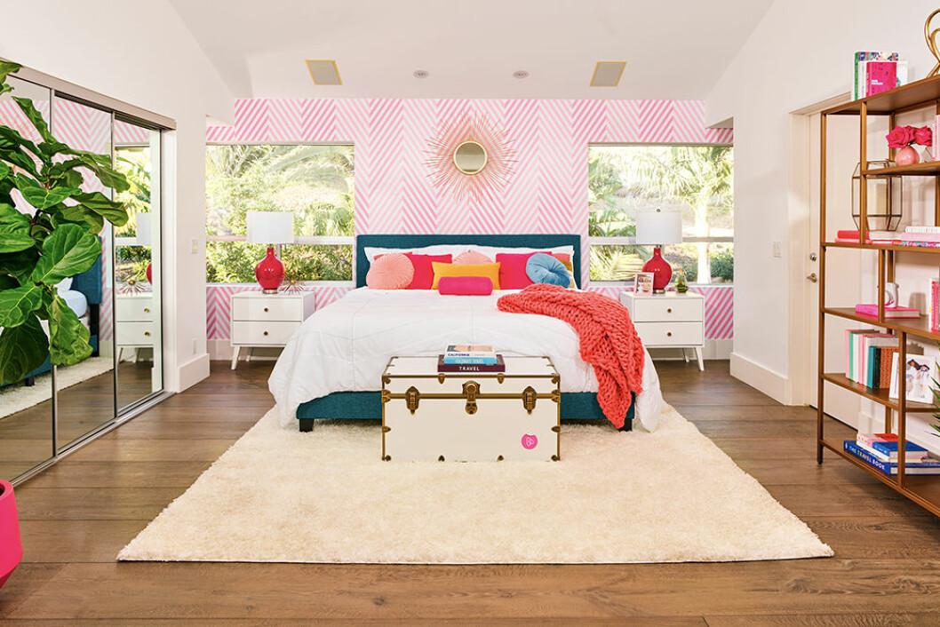 Sovrum i Barbies hus
