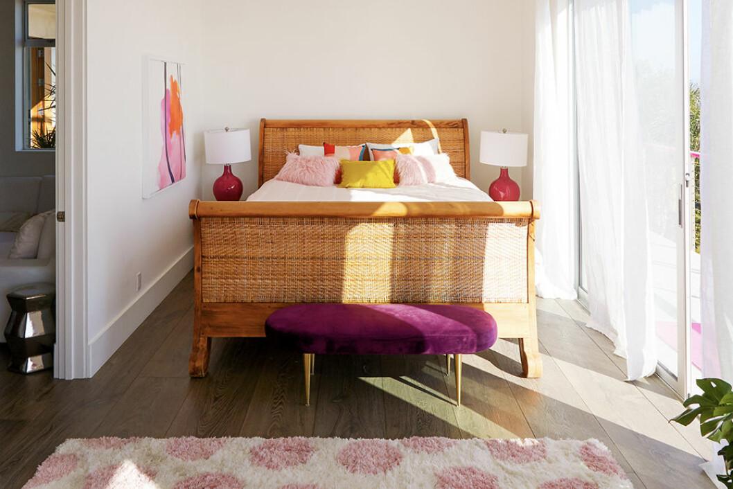 Ett av sovrummen i Barbies hus