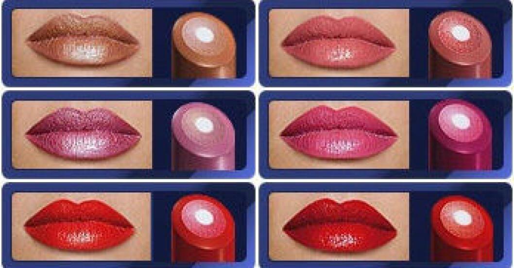 Beauty Triple Core Lipstick finns i tio snygga färger.