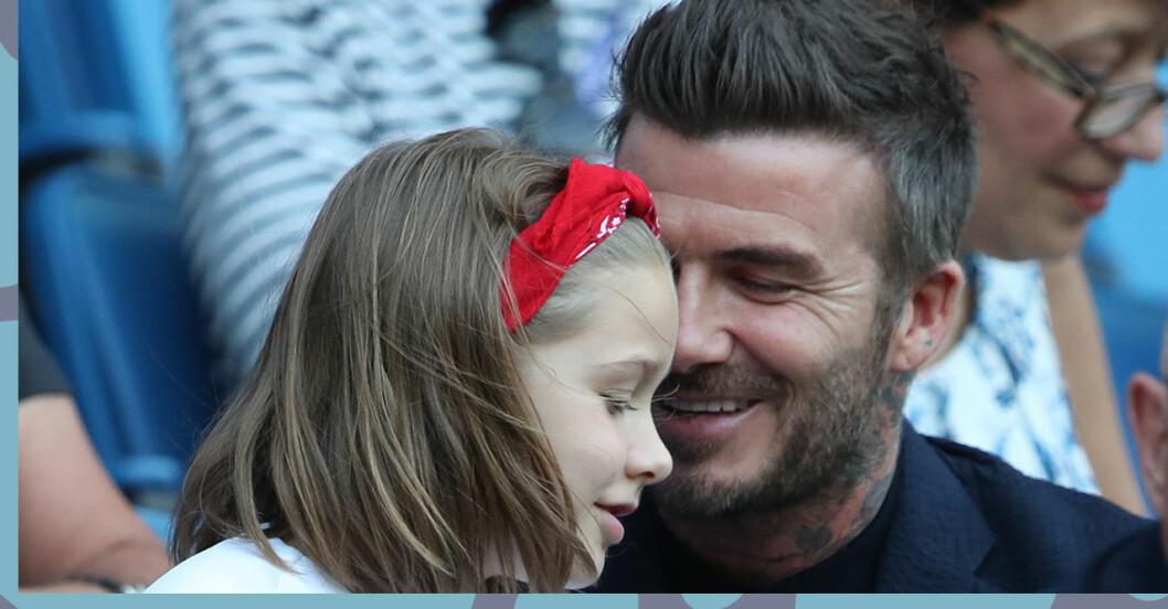 Harper Seven och David Beckham på fotbollsmatch!
