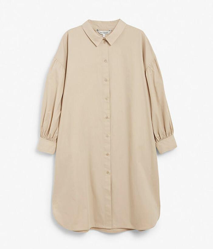 Beige oversize skjorta från KappAhl