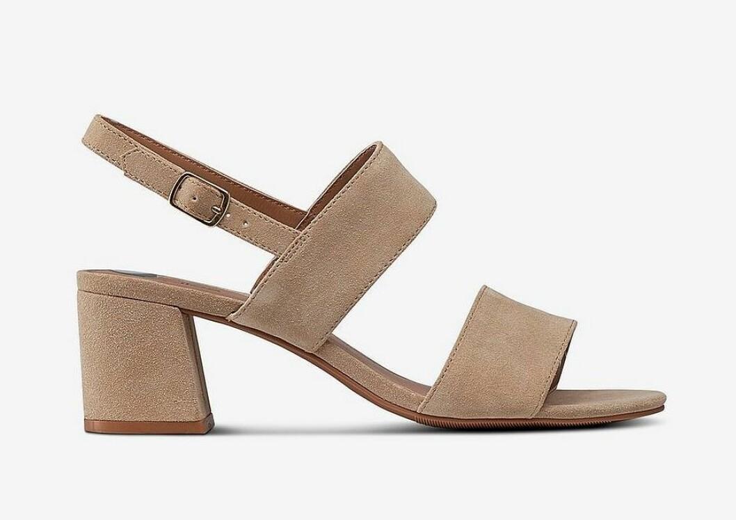 Beige sandaletter med breda remmar för dam till 2020