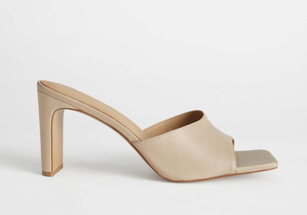 Beige sandaletter med fyrkantig tå för dam till sommaren 2020