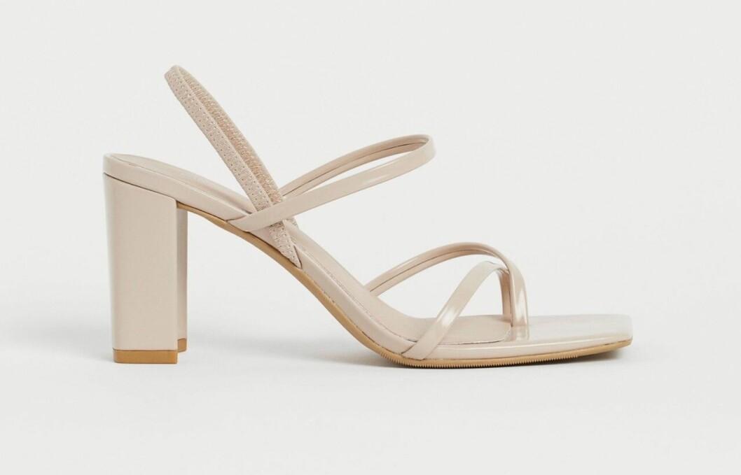 Beige sandaletter med fyrkantig tå från H&M