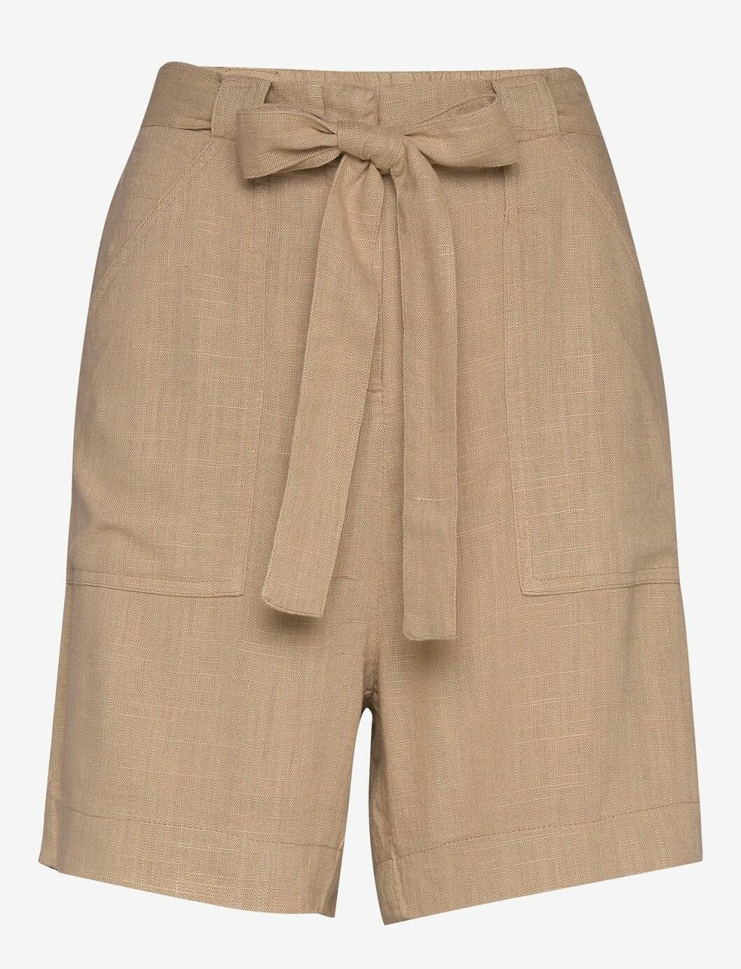Beige shorts med knytband för dam till 2020