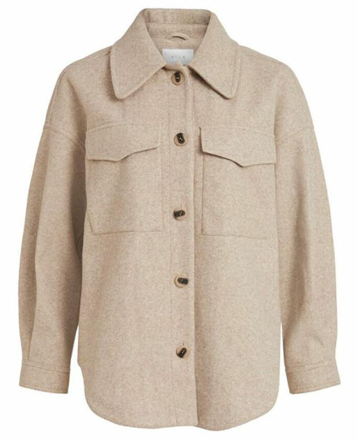 beige skjortjacka