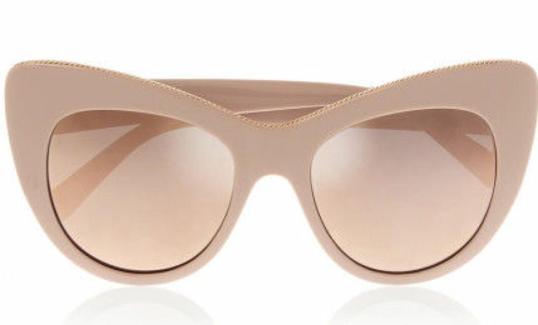 beige solglasögon cateye
