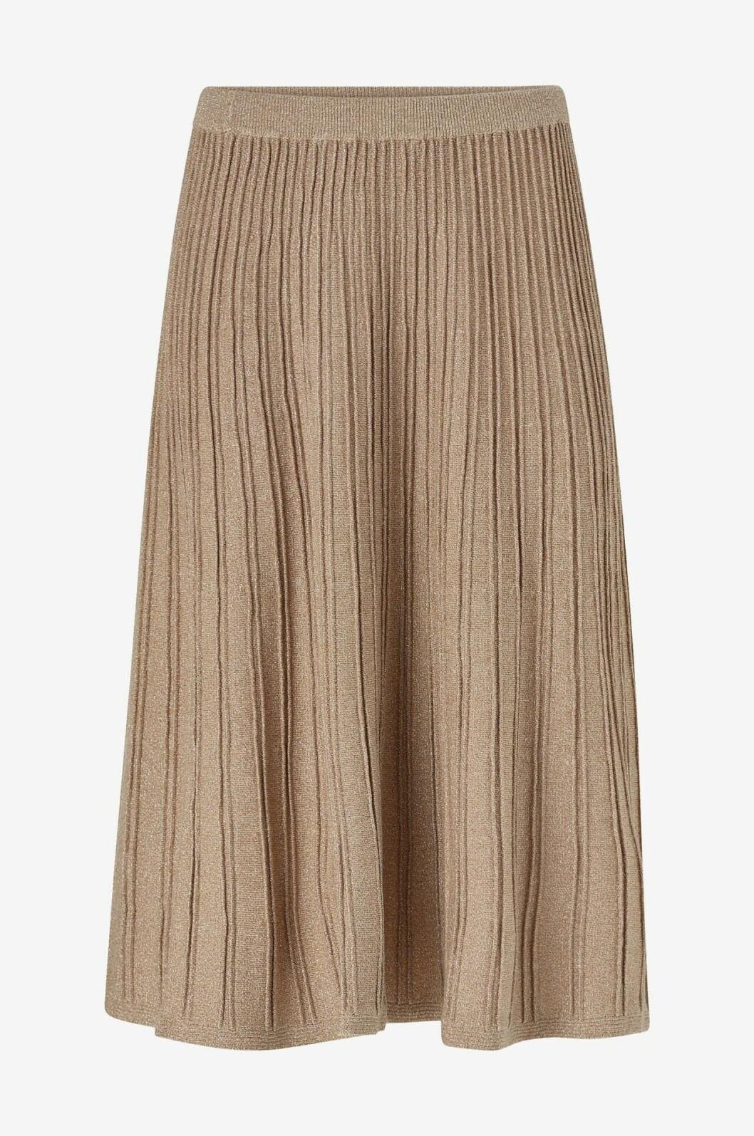Beige stickad kjol för dam till 2019
