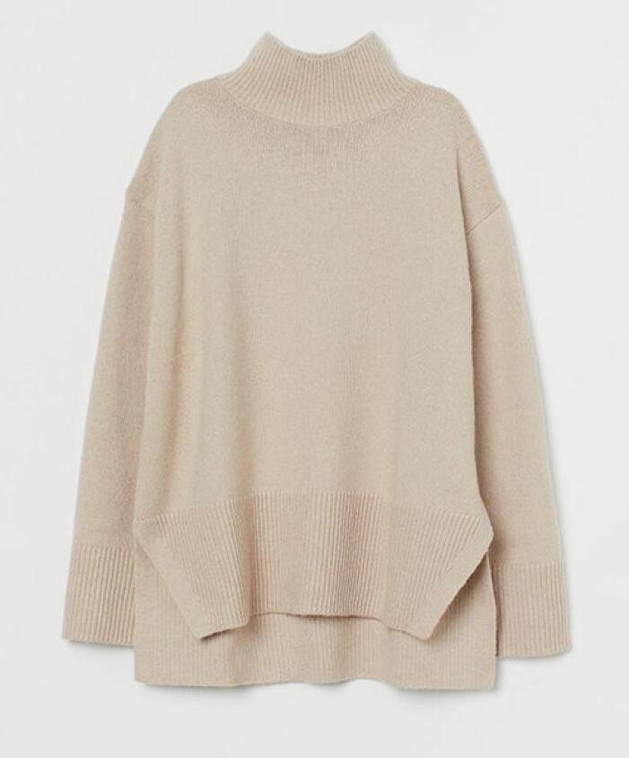 Beige stickad tröja från H&M