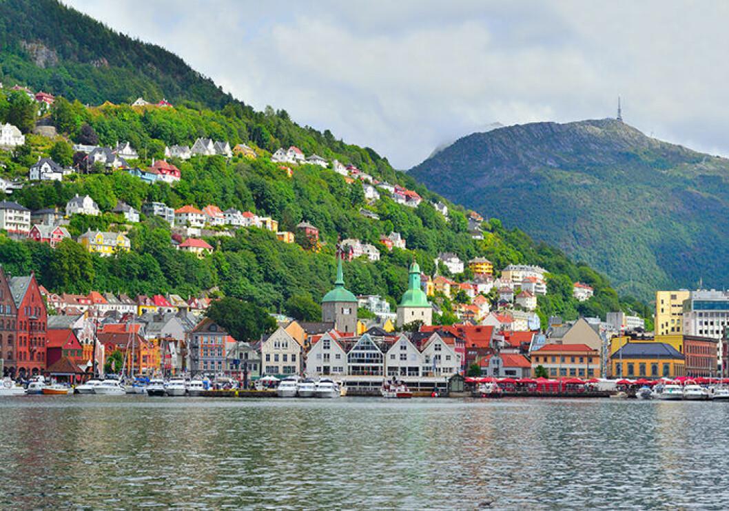 Besök staden Bergen i Norge