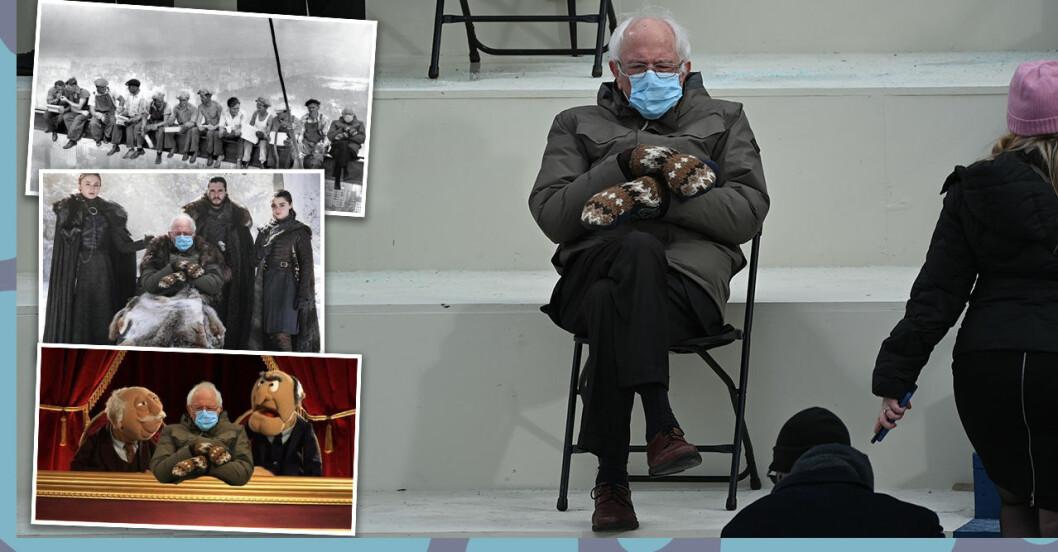 Bilden på Bernie Sanders sprids som en löpeld.