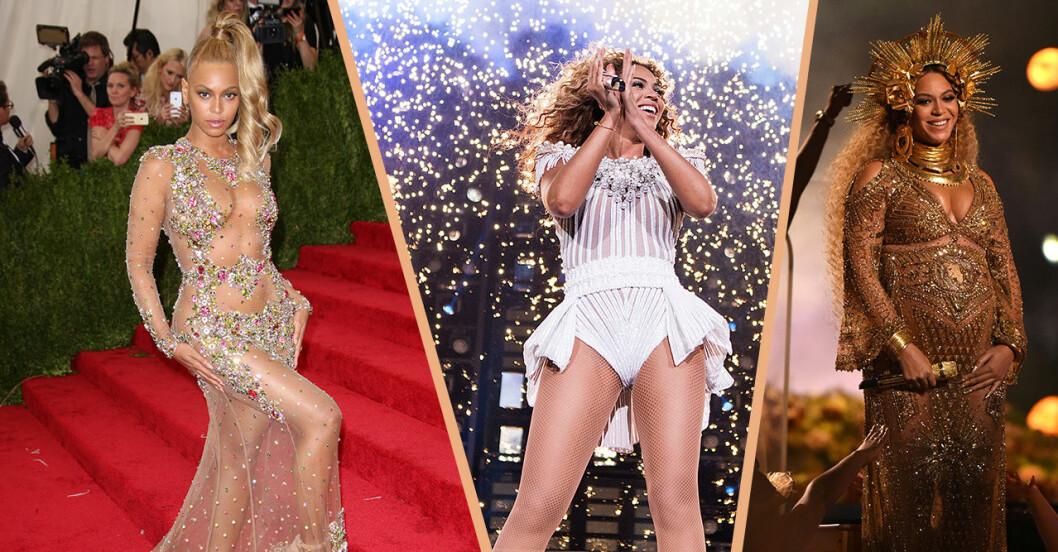 Beyonce på scen och röda mattan