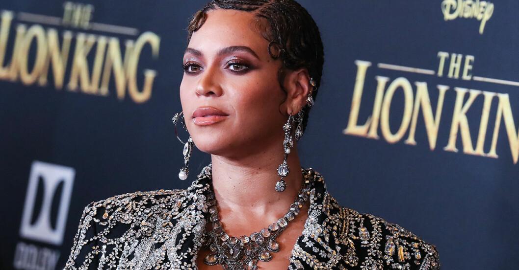Beyoncé på premiären av Lejonkungen