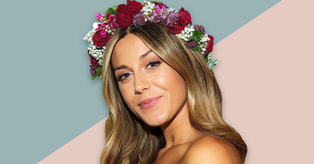 Bianca Ingrosso med en blomkrans