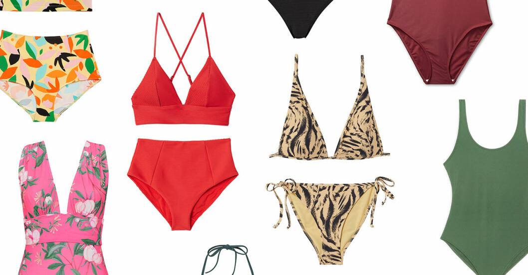 Bikinis och baddräkter för dam till sommaren 2019