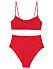 Röd bikini med tunna band för dam till 2020