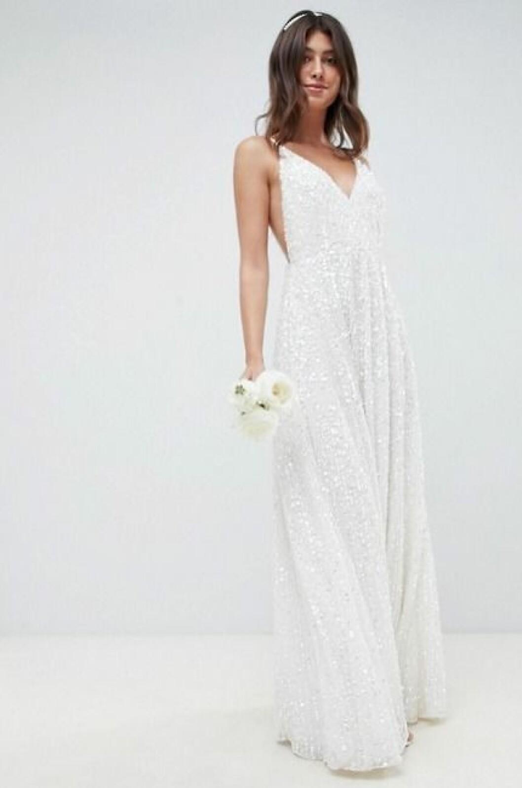 Billig brudklänning med paljetter till 2019