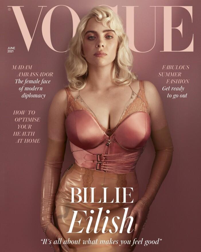 Billie Eilish på omslaget av Vogue