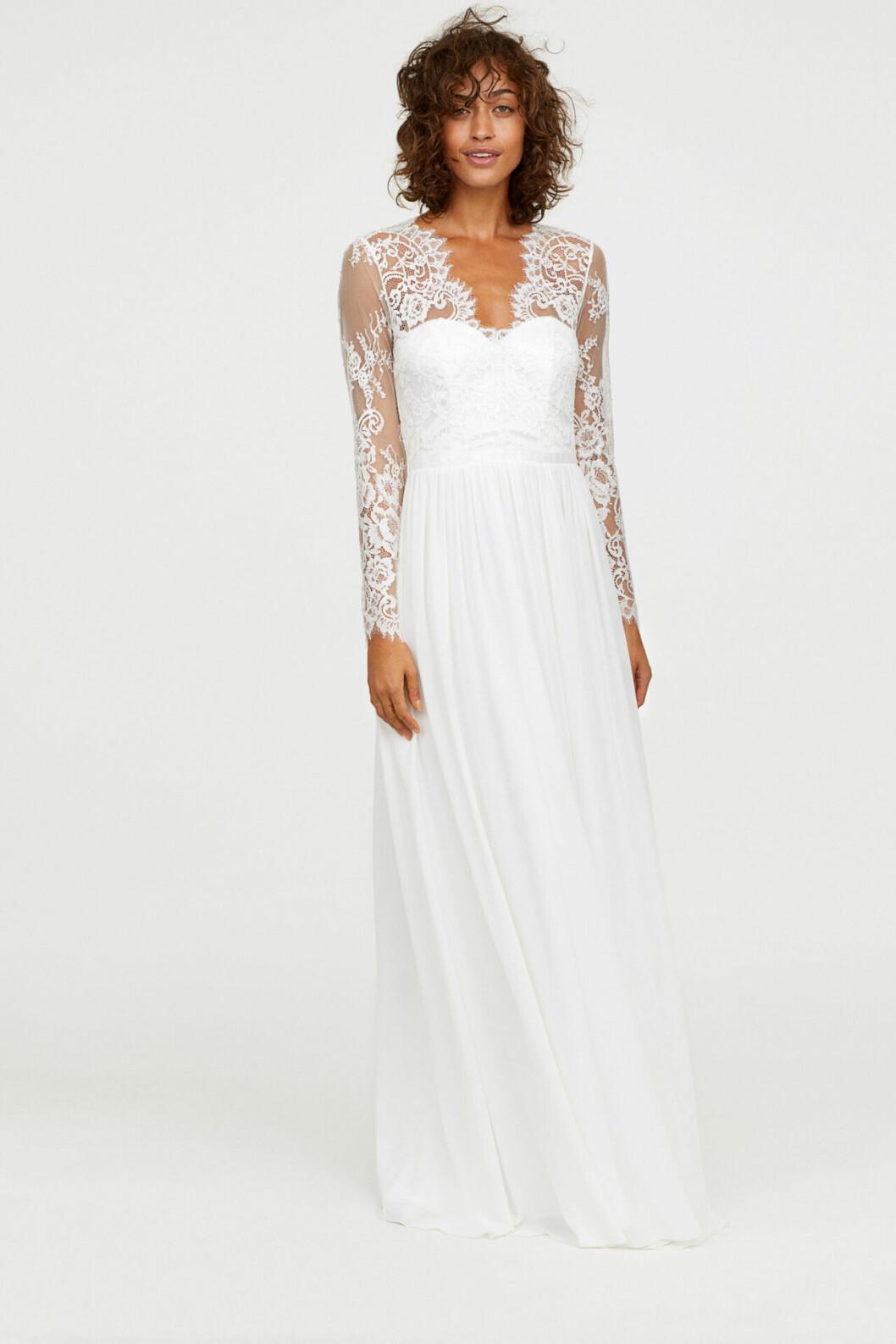 Billig brudklänning med spets till 2019