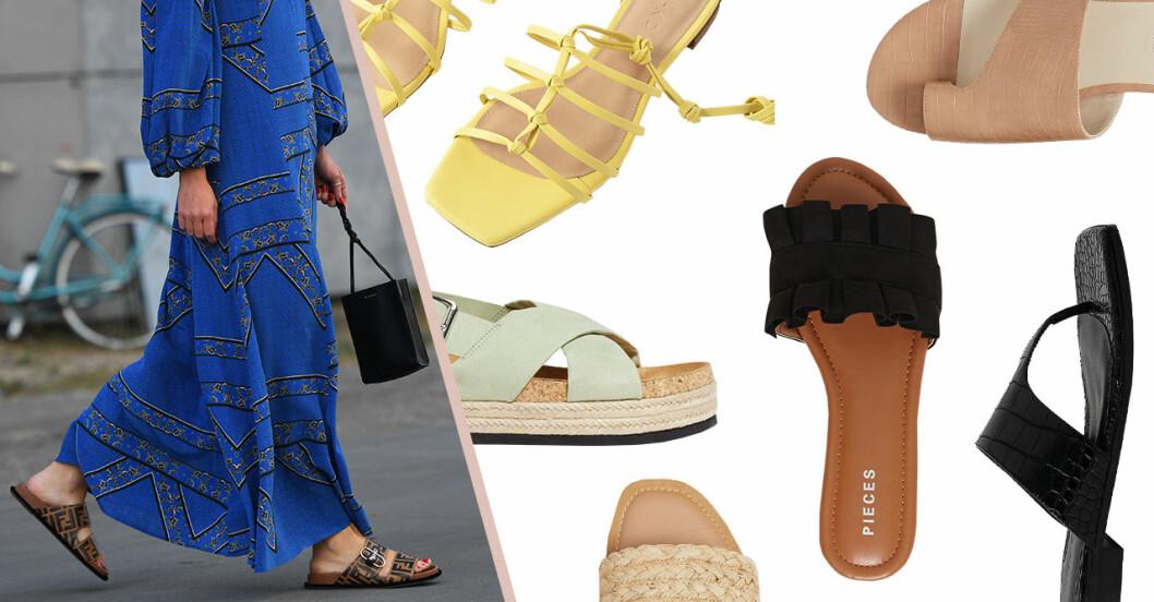 Billiga sandaler för dam till sommaren 2020