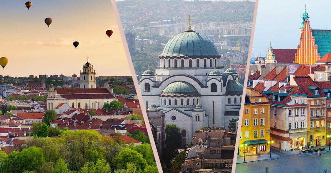 Europas billigaste städer 2019