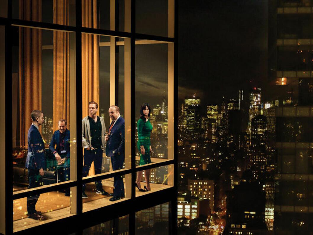 En bild från tv-serien Billions, vars femte säsong har premiär på HBO den 4 maj.