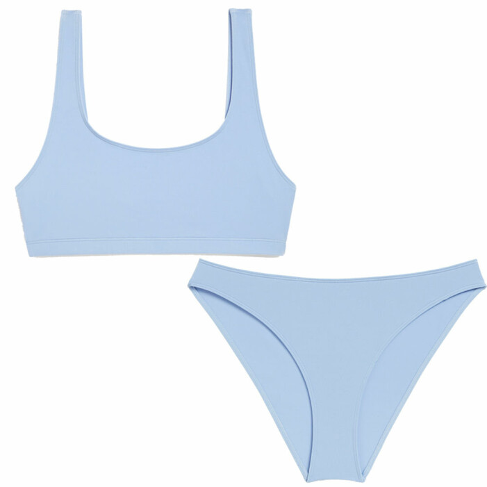 ljusblå sportig bikini
