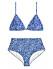 Blå bikini med hög midja för dam till 2020