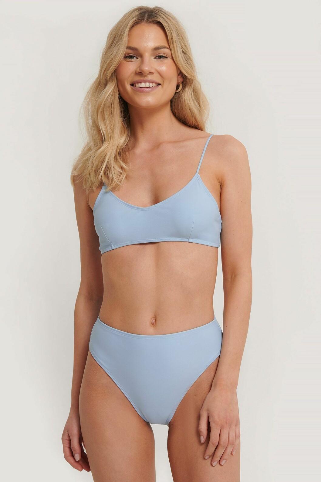 Blå, skön bikini med hög midja för dam till 2020