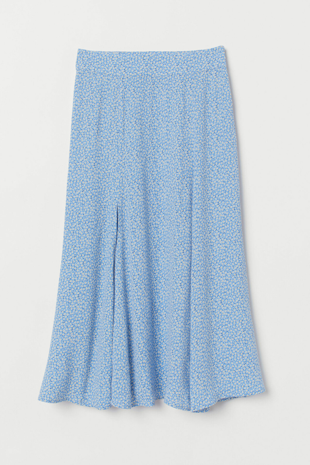 Blåblommig vadlång kjol för dam till 2019