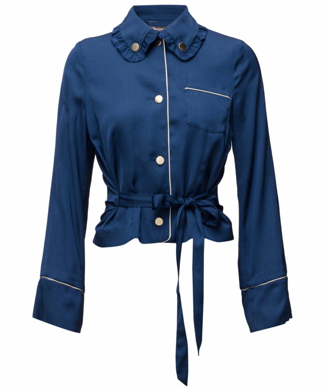 blå blus pyjamas