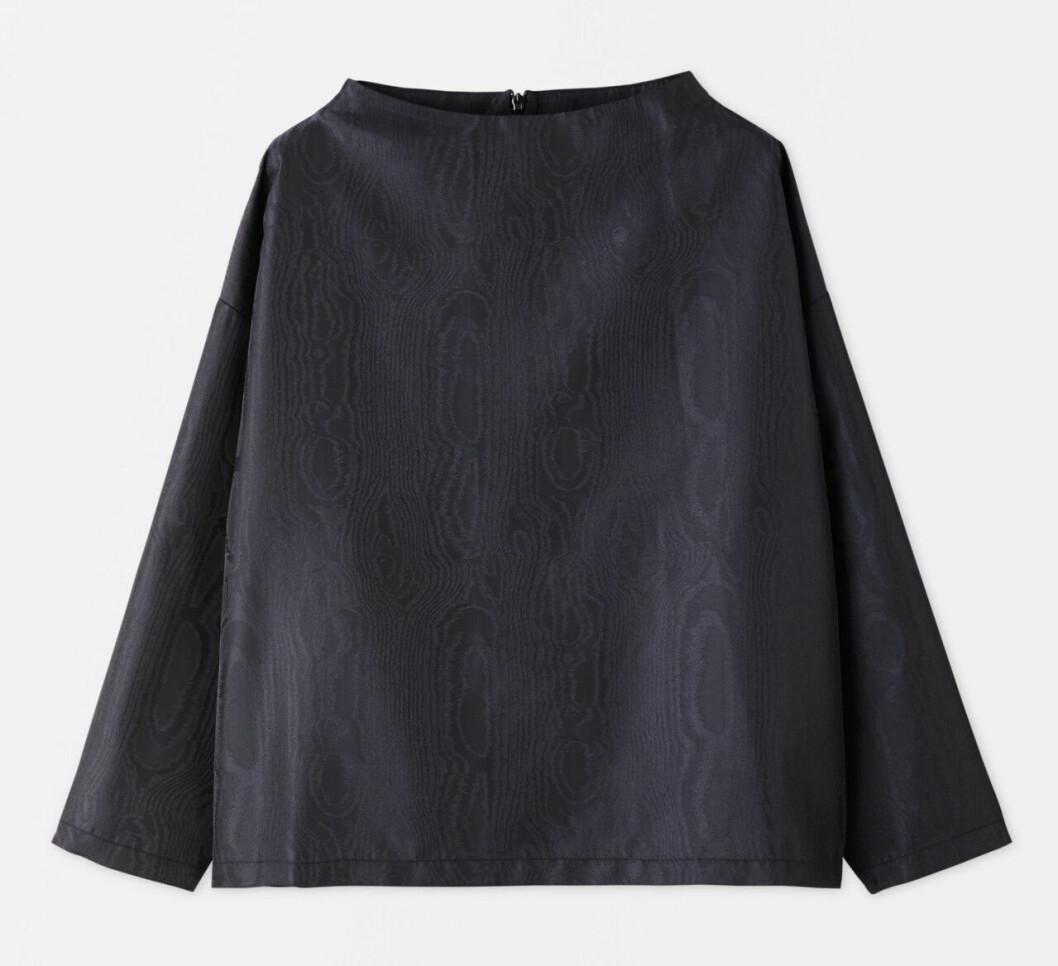 Matchande set: Mönstrad blus med lång ärm