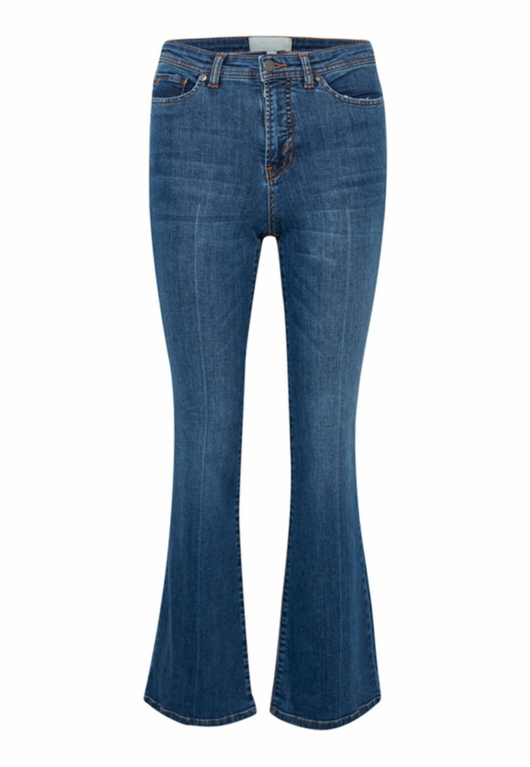 Blå bootcut-jeans