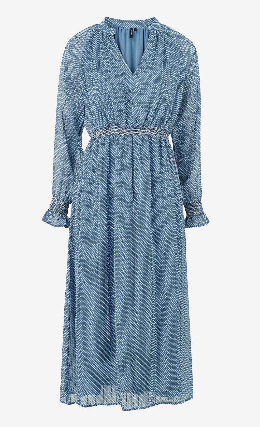 Blå höstklänning för dam till 2019