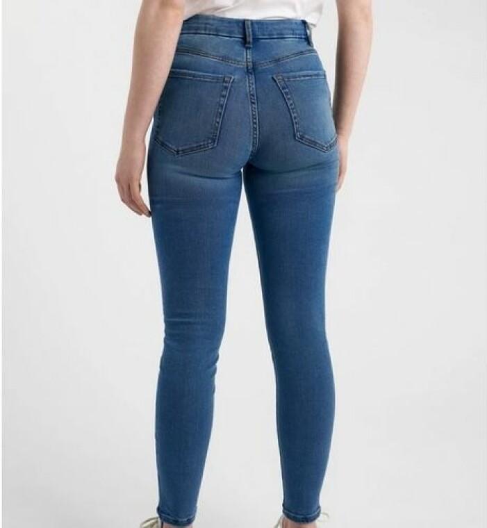 Stretchiga jeans med hög midja från Lindex