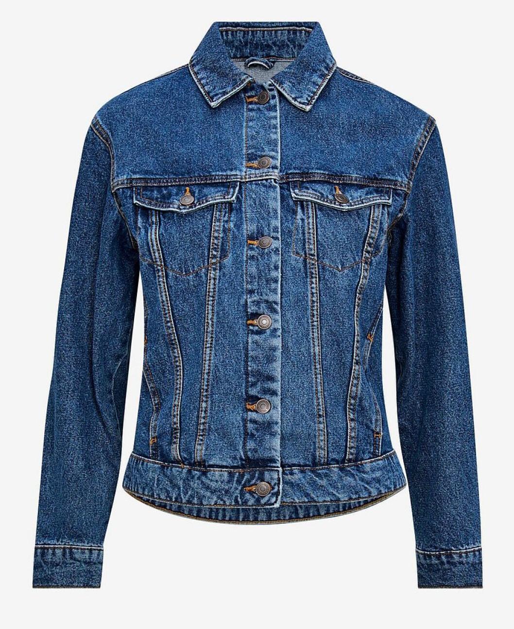 Blå jeansjacka med krage för dam till 2019