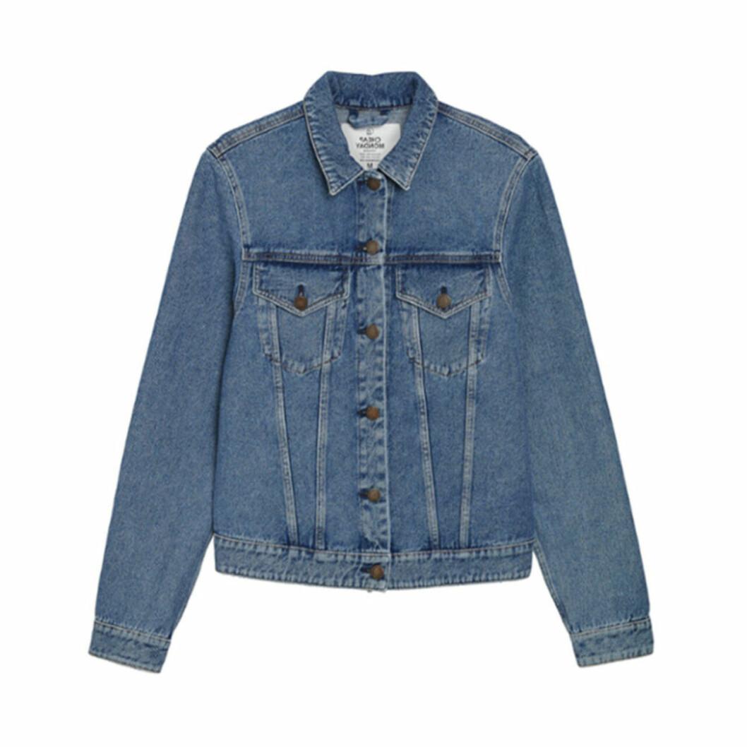 Blå jeansjacka i klassisk modell för dam till 2019