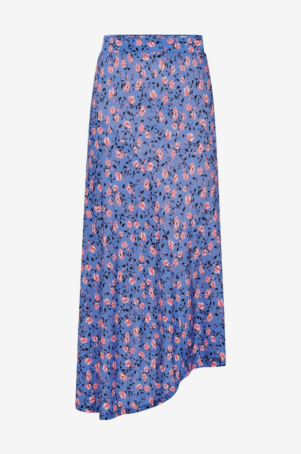 Blåblommig kjol för dam till 2019