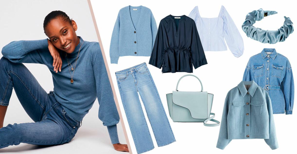 blå kläder mode vår 2021