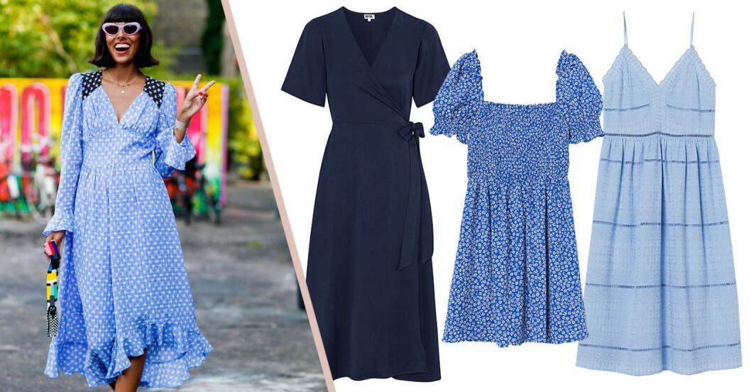 Blå klänningar för dam till sommaren 2020 – från mörkblå till ljusblå